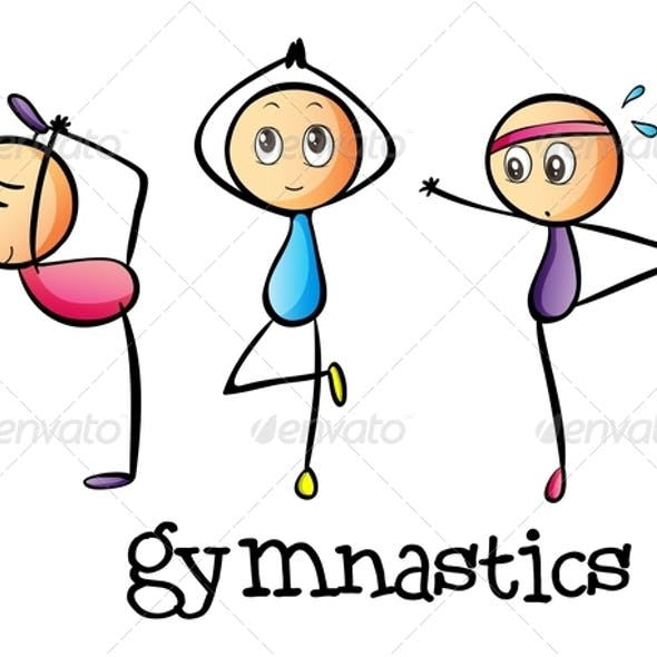 Stickmen Doing Gymnastics