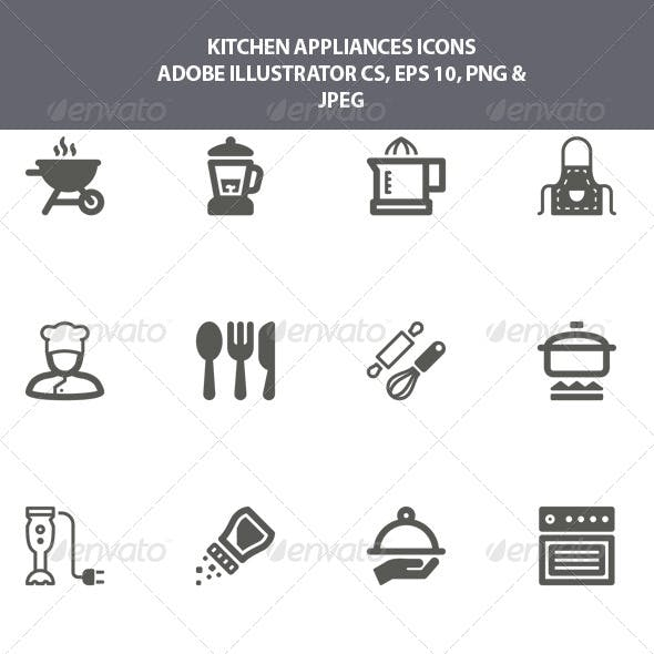 Oven Microwave Icons From Graphicriver