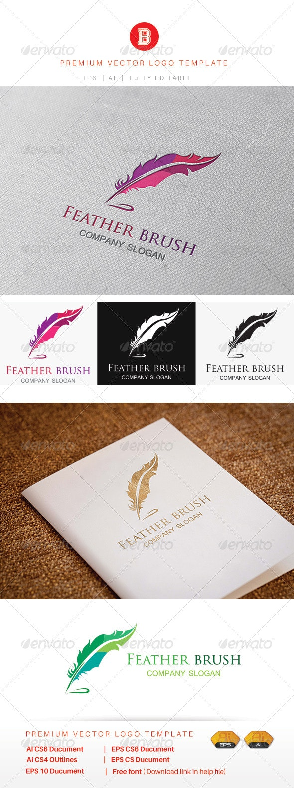 Feather Brush - Animals Logo Templates