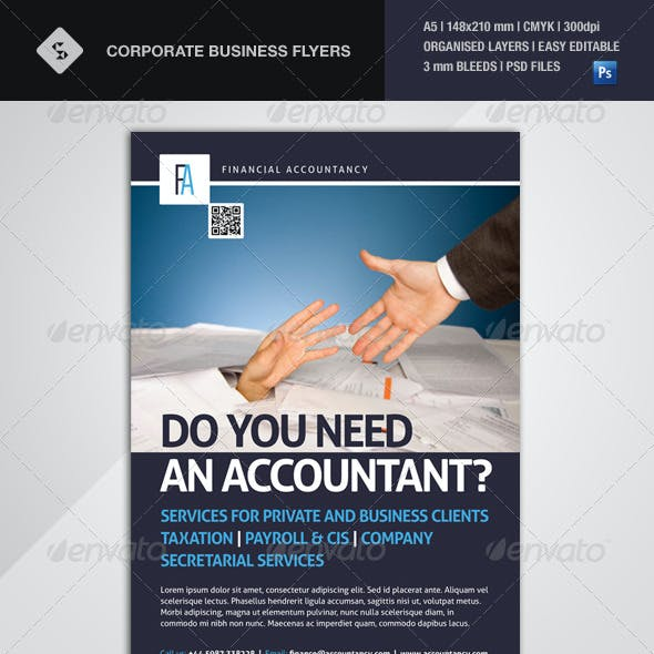 Corporate Business Flyer - Financial Accountancy