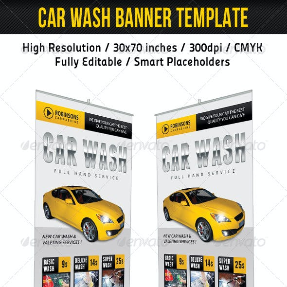 Car Wash Banner Template 03