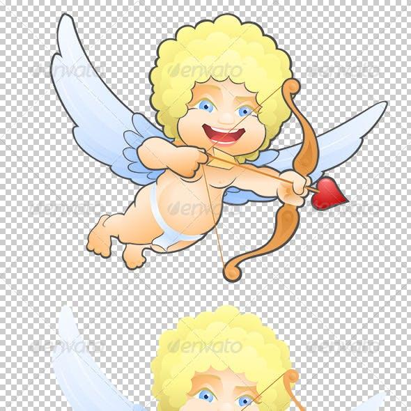 Flying Cartoon Cupid