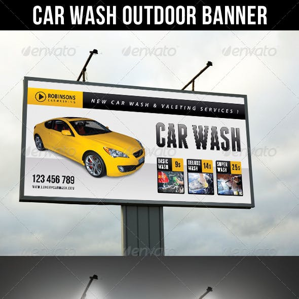Car Wash Outdoor Banner 02