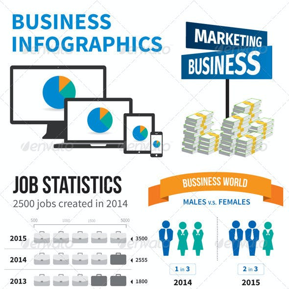 Business Infographic - 3 Color Options