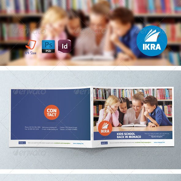 School Book Brochure Templates