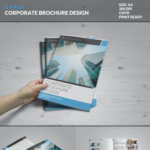 8 Page Corporate Bi-Fold Brochure Template 2
