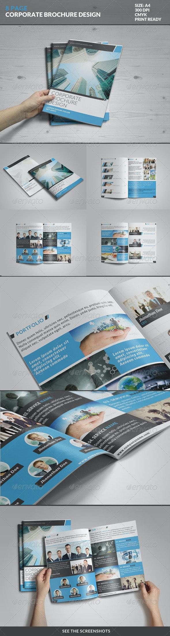 8 Page Corporate Bi-Fold Brochure Template 2 - Corporate Brochures