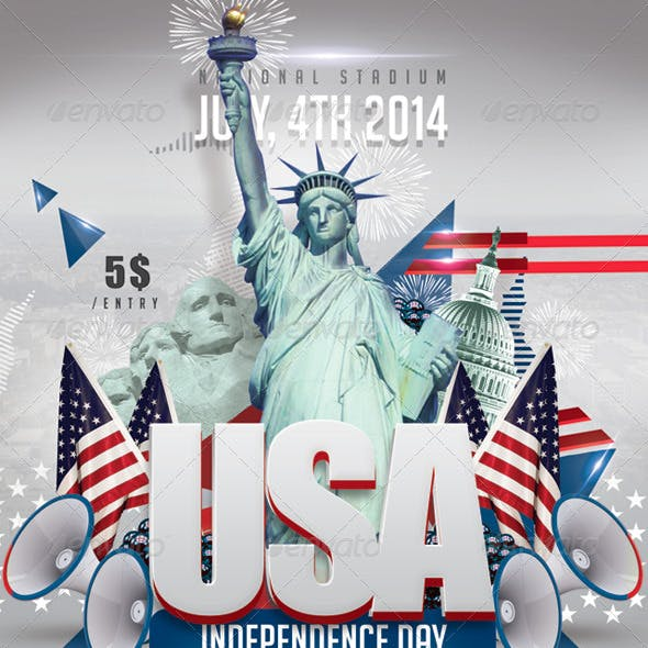 Usa July 4th American Independence Day