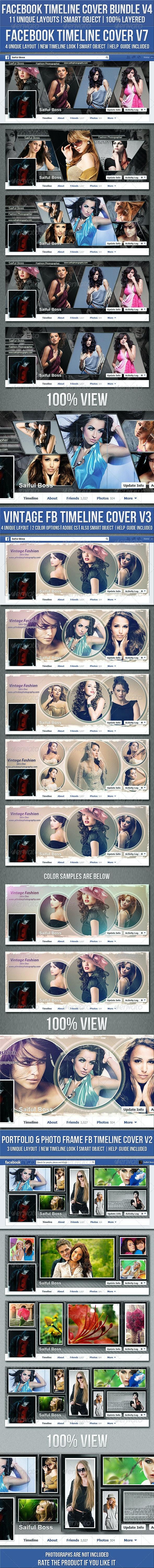 Facebook Timeline Cover Bundle V4 - Facebook Timeline Covers Social Media