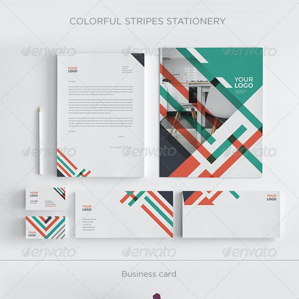Colorful Stripes Stationery