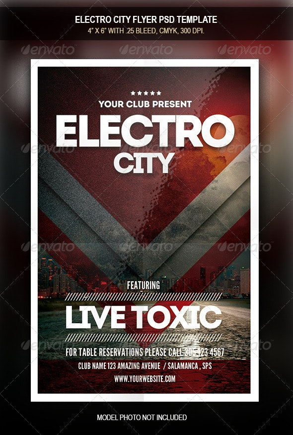 Electro City Flyer - Concerts Events