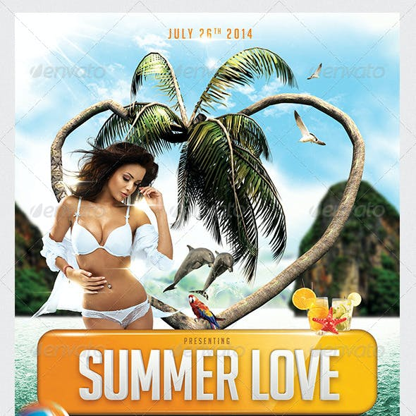 Summer Love Party Flyer