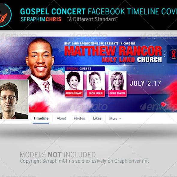 Gospel Concert Facebook Timeline Cover Template