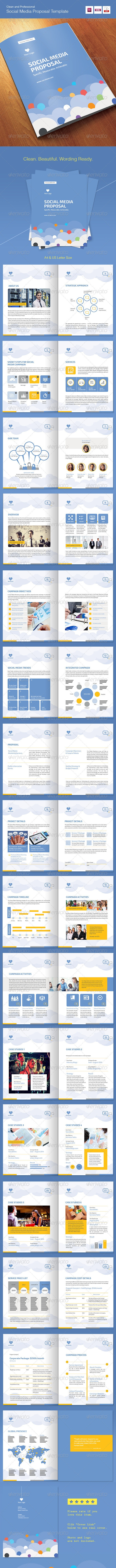 Social Media Proposal Template - Proposals & Invoices Stationery