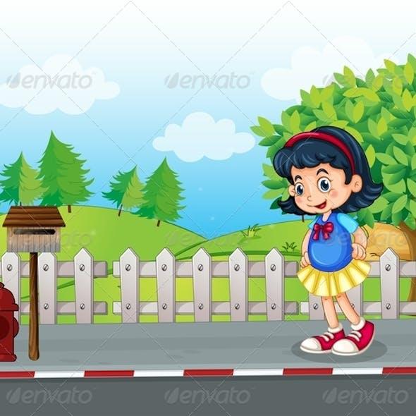 Girl Near Mailbox