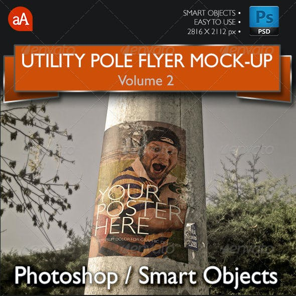 Utility Pole Flyer and Poster Mock-Up Vol.2