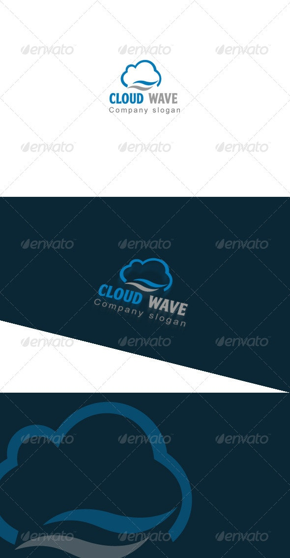 Cloud Wave Logo Template - Objects Logo Templates