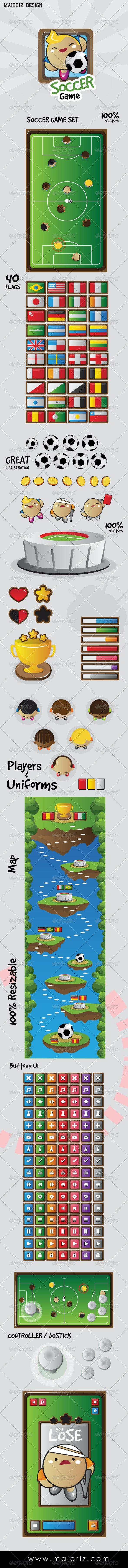 Soccer Game Set UI - Miscellaneous Vectors