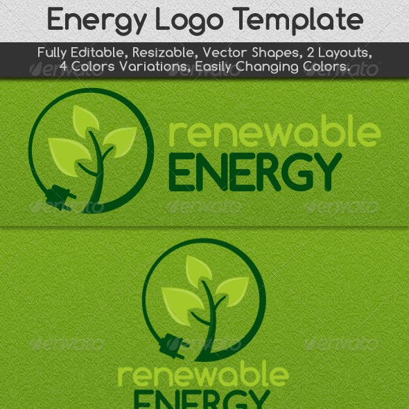 Renewable Energy Logo Template
