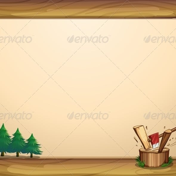 Banner Template with Trees
