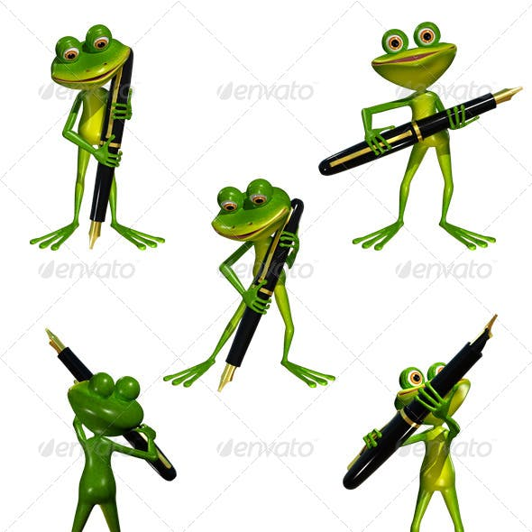 Frog with a Pen