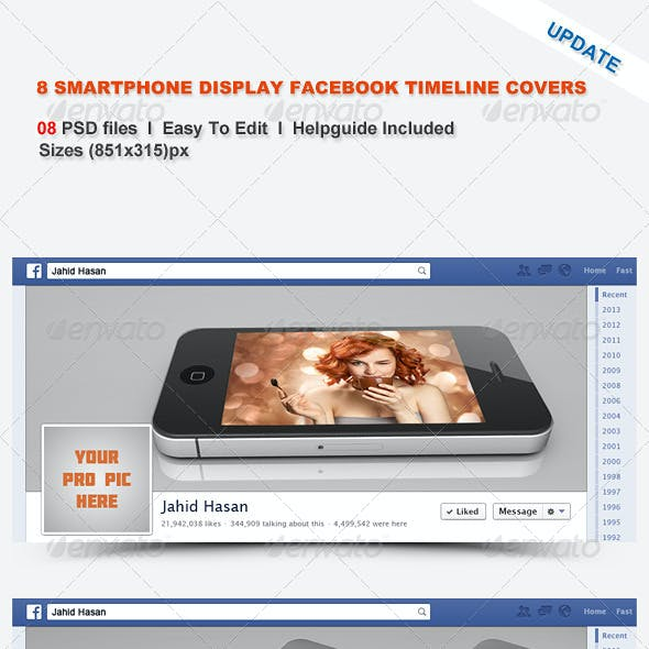 8 Smartphone Display Facebook Timeline Covers