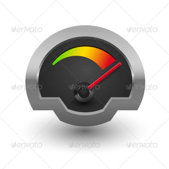 Chrome Speedometer Illustration