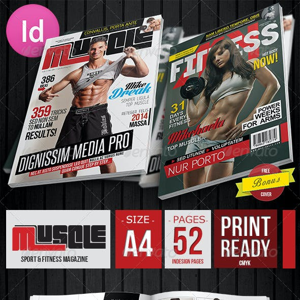Muscle Fitness Magazine + 2 Covers