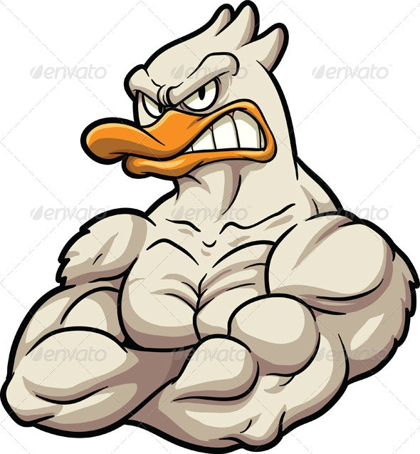 Strong Duck Mascot - Animals Characters