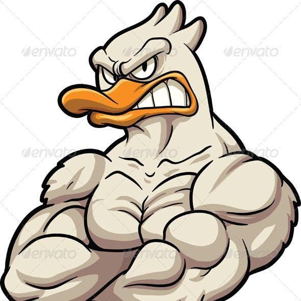 Strong Duck Mascot