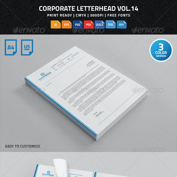 Corporate Letterhead Vol.14 with MS Word DOC/DOCX
