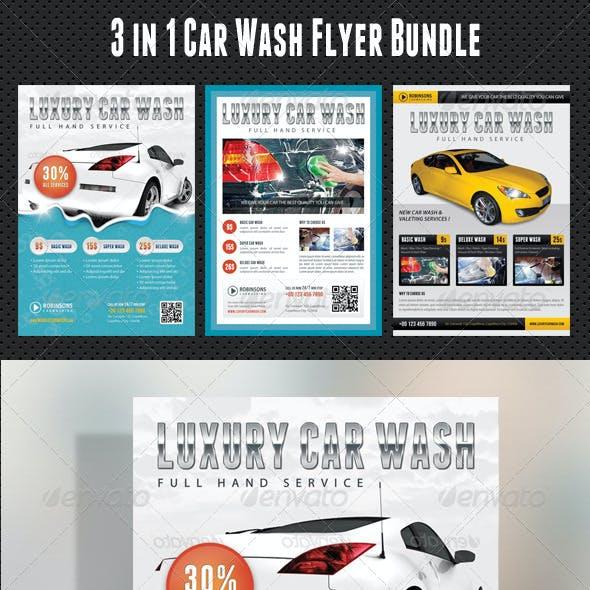 3 in 1 Car Wash Flyers Bundle 01