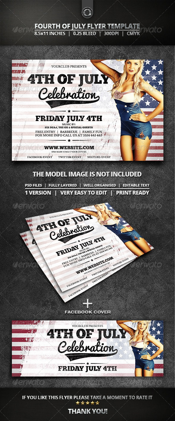 Fourth Of July Flyer Template - Holidays Events