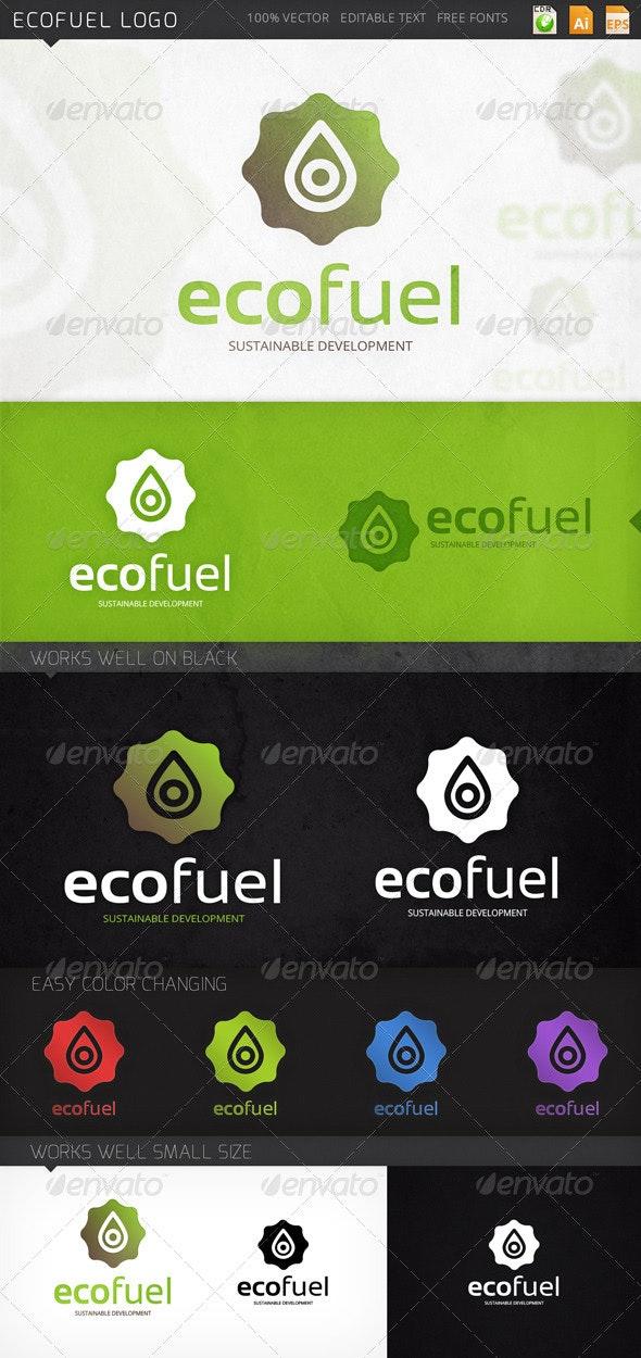 Ecofuel Drop Oil Logo Template