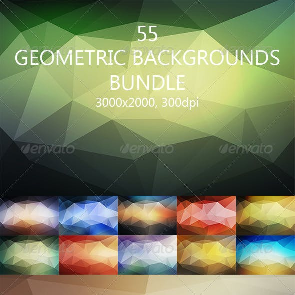 55 Geometric Backgrounds Bundle