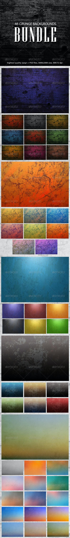 Grunge Backgrounds Bundle - Backgrounds Graphics