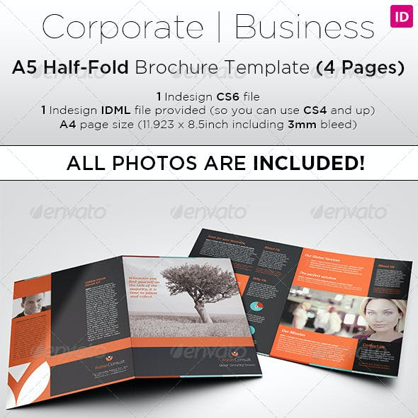 A5 Half-Fold Brochure (4 pages) - Photo Included