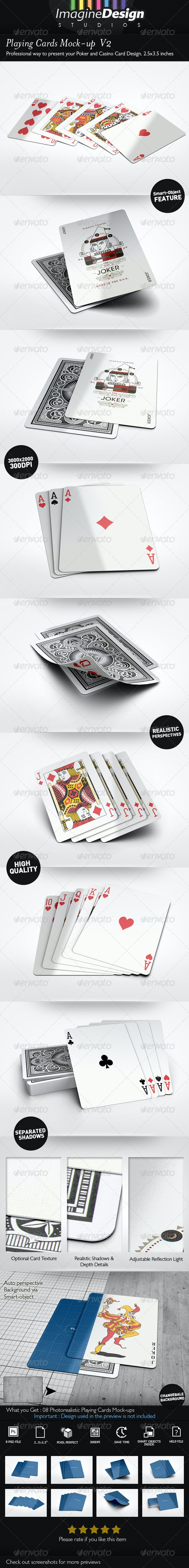 Playing Cards Mock-up  V2 - Miscellaneous Print