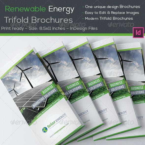 Renewable Energy Trifold Brochures