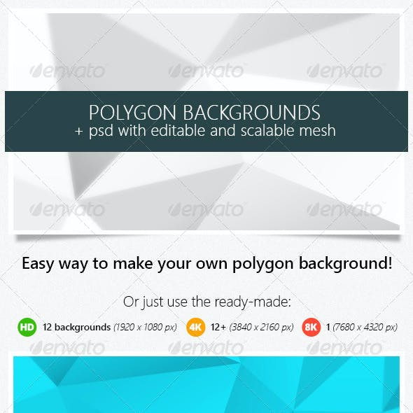 Polygon Backgrounds (High Resolution with PSD)