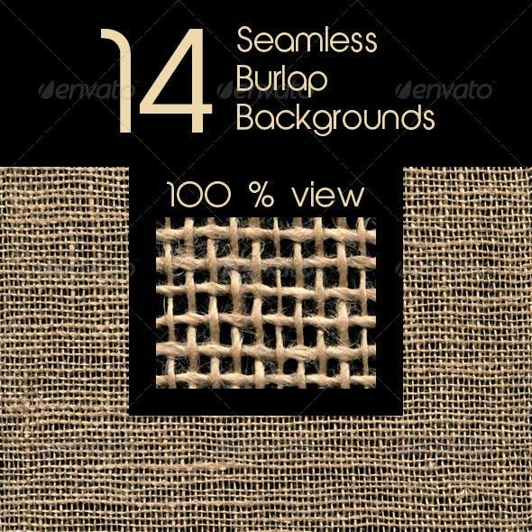 14 Seamless Burlap Backgrounds