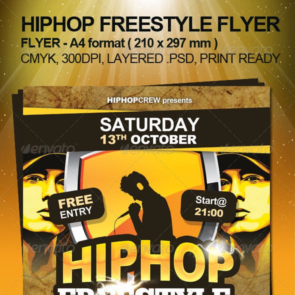 Hiphop Freestyle Flyer