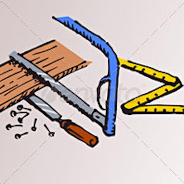 Carpenter Tools and Wood