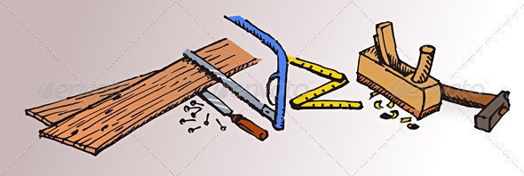 Carpenter Tools and Wood - Industries Business