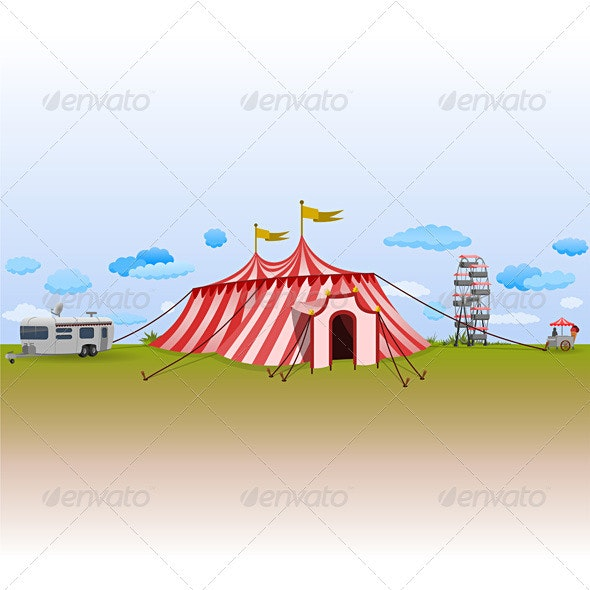 Amusement Park with Circus - Seasons/Holidays Conceptual
