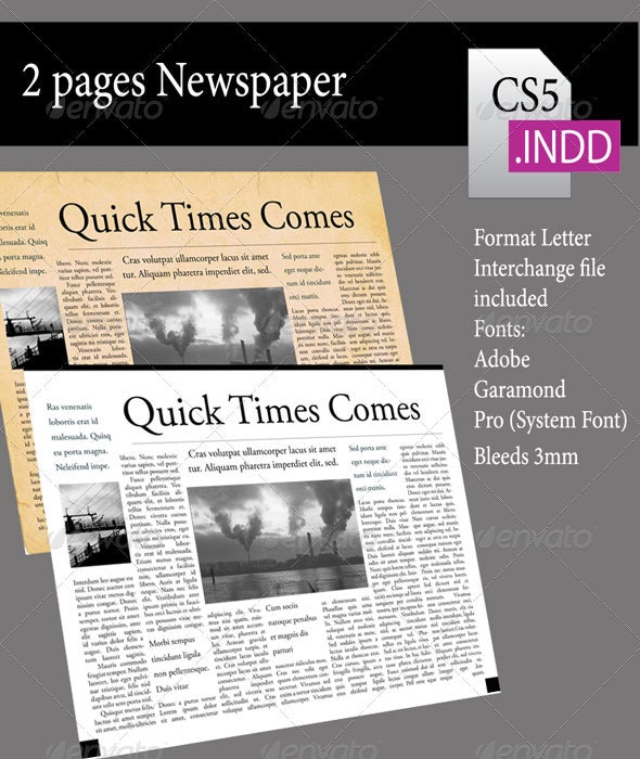 2 Pages Newsletter - Newsletters Print Templates