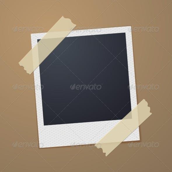 Taped Retro Style Photo Frame