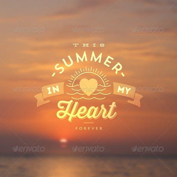 Summer Vacation Type Design