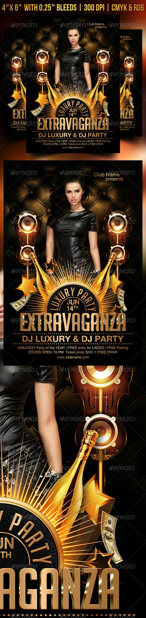 Extravaganza Luxury Flyer Template - Clubs & Parties Events