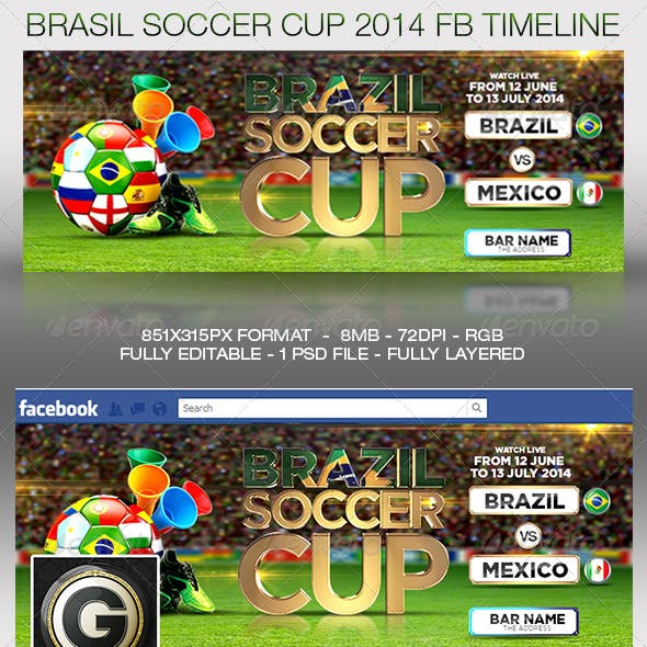 Brasil Soccer Cup Facebook Timeline